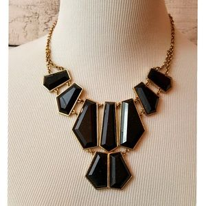 "Jewelry - Statement Necklace--Black/""Gold"""